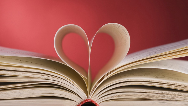 page in the shape of a heart